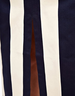 Image 3 of ASOS Vertical Stripe Skirt in Column Shape
