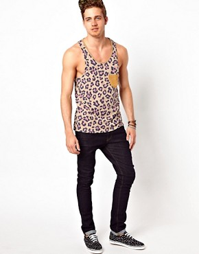 Image 4 of ASOS Vest With All Over Animal Camo Print