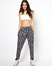 ASOS Peg Pants in Blurred Print