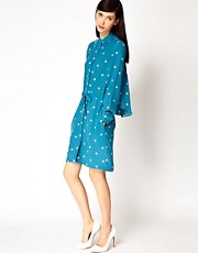 Antipodium Lounge Lover Dress in Double Digits Print Designed By Jaime Perlman