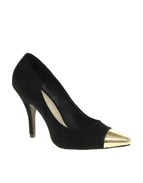 Image 1 ofASOS SIDNEY Pointed High Heels with Metal Toe Cap