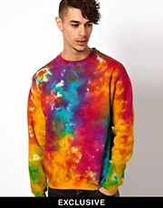 Reclaimed Vintage Sweat with Tie-Dye Sweat