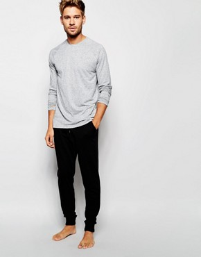 ASOS Loungewear Skinny Joggers In Black