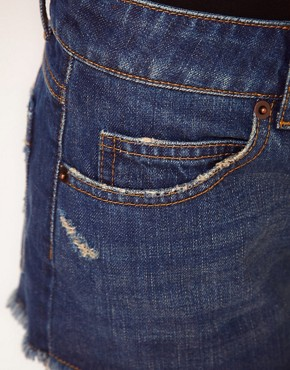 Image 3 ofASOS Denim Hotpants in Rich Vintage Wash