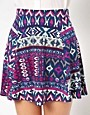 Image 3 ofRiver Island Aztec Printed Skater Skirt