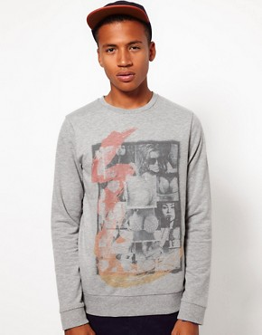 Image 1 ofASOS Sweatshirt With Montage Print