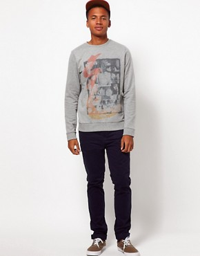 Image 4 ofASOS Sweatshirt With Montage Print