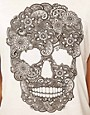 Image 3 ofASOS PETITE Exclusive Dip Back T-Shirt With Skull Print