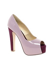 Sugarfree Michelle Heeled Peep Toe Shoe