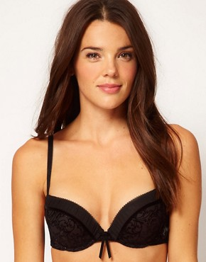 Image 1 ofEsprit Kim Push Up Padded Flocked Bra