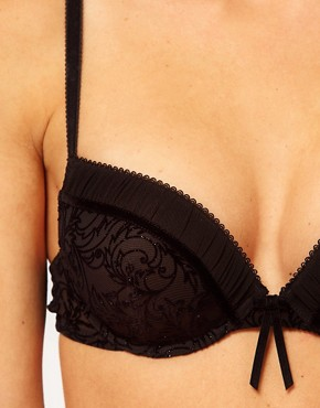 Image 3 ofEsprit Kim Push Up Padded Flocked Bra