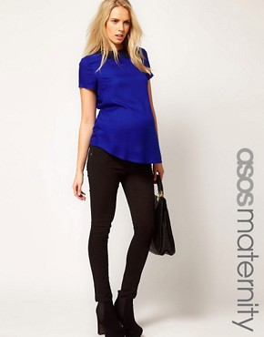 Image 1 ofASOS Maternity Skinny Trousers In Twill