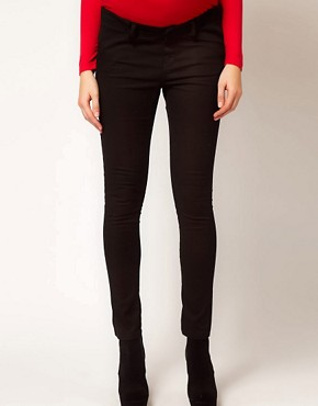 Image 4 ofASOS Maternity Skinny Trousers In Twill