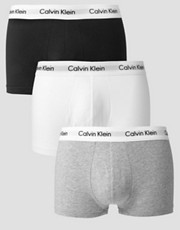 Calvin Klein 3 Pack Trunks Low Rise
