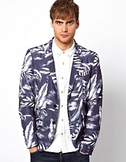 Diesel - Jristare - Blazer in nylon con stampa hawaiana