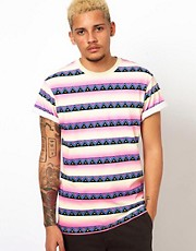 Vans T-Shirt All Over Native Print Slim Fit