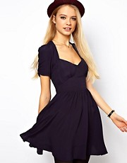 ASOS Mini Dress With Covered Buttons