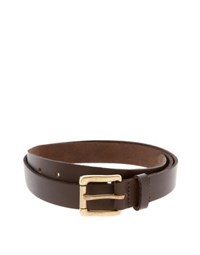 Image 2 ofASOS Brown Leather Chino Belt