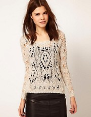 Warehouse Open Weave Jumper