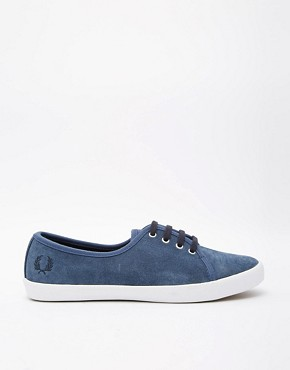 Fred Perry Bell Suede Kit Blue Sneakers