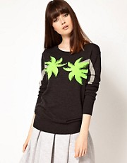 Markus Lupfer Palm Tree Intarsia Jumper
