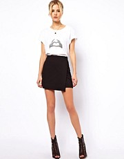 ASOS Wrap Skirt in Ponte