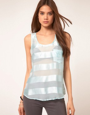 Image 1 ofVero Moda Very Sheer Stripe Top