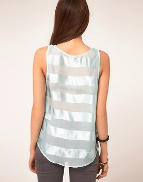 Image 2 ofVero Moda Very Sheer Stripe Top