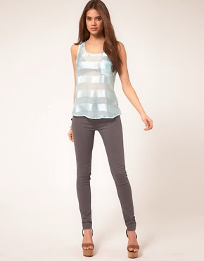 Image 4 ofVero Moda Very Sheer Stripe Top