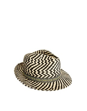 Image 3 ofRiver Island Zig Zag Trilby Hat