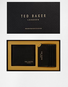 Ted Baker Wallet & Cardholder Gift Set In Black