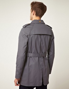 Image 2 ofASOS Grey Trench Coat
