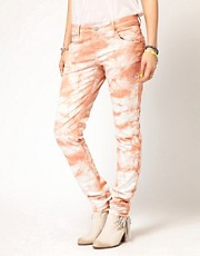 Maison Scotch La Parisienne Jeans in Tie Dye Coral