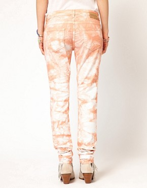 Image 2 ofMaison Scotch La Parisienne Jeans in Tie Dye Coral