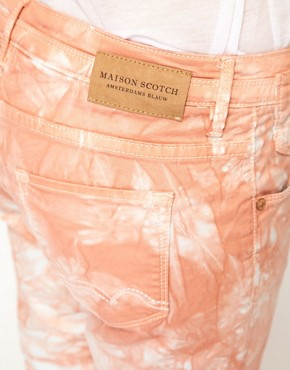Image 3 ofMaison Scotch La Parisienne Jeans in Tie Dye Coral