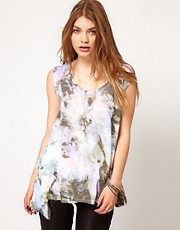 Religion Graphic Print Drape Top
