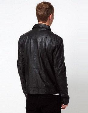 Image 2 ofBarneys Originals Leather Jacket Biker