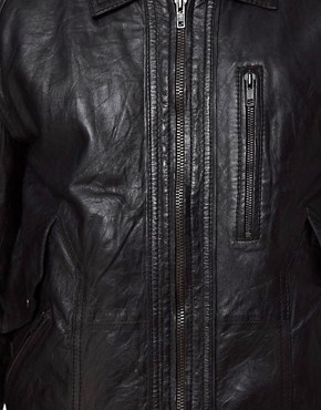 Image 3 ofBarneys Originals Leather Jacket Biker