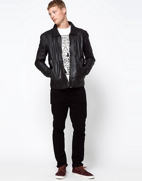 Image 4 ofBarneys Originals Leather Jacket Biker