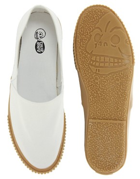 Image 3 ofCheap Monday Birdman Slip On Plimsolls