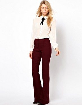 Image 1 ofASOS Skinny Flare Trousers