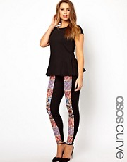 ASOS CURVE Exclusive Legging With Habanera Printed Pattern
