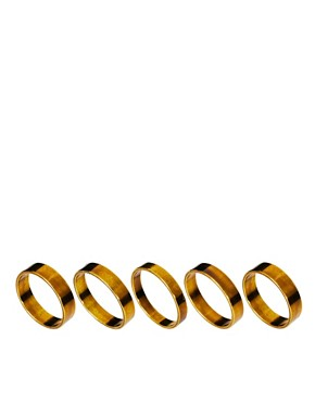 Image 1 ofASOS Multipack Band Rings