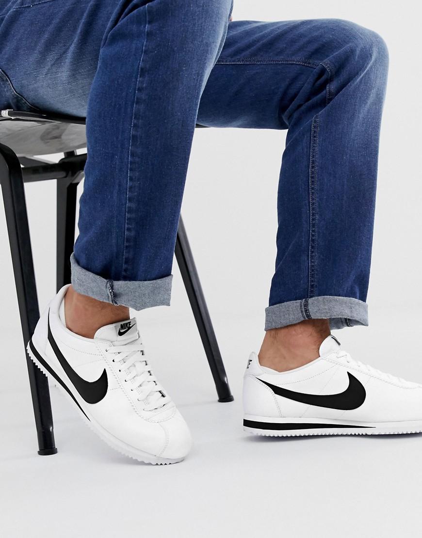 Nike - Cortez - Weiße Leder-Sneaker | Schuhe > Sneaker | Weiß | Nike