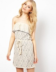 Traffic People Lace Bandeau Dress