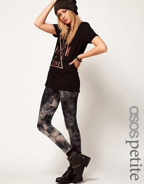 Image 1 ofASOS PETITE Exclusive Leggings In Tie Dye