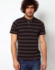Paul Smith Jeans Polo with Fine Stripe and Pocket