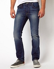 G Star Jeans &ndash; 3301 &ndash; Eng geschnittene Jeans im Medium-Aged-Look