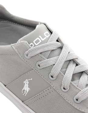 Image 2 ofPolo Ralph Lauren Hanford Canvas Trainers