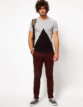 Image 4 ofASOS T-Shirt With Insert Triangle